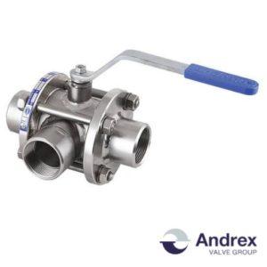 Шаровой кран трехходовой DP55-05, DP55-51 (PN6-PN40 DN10-DN250) | Andrex