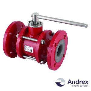 Шаровой кран футерованный (с тефлоновым покрытием) DP-303k (PN6-PN16 DN15-DN100)   Andrex