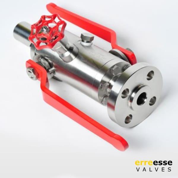 Шаровой кран модульный двойного запирания с плавающим шаром с торцевым входом (DBB) VD1 | Erreesse Valves