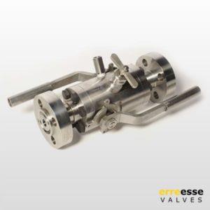 Шаровой кран модульный двойного запирания с плавающим шаром (DBB) VDA – VDB – VD2 | Erreesse Valves