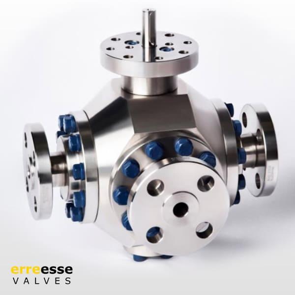 Многоходовой шаровой кран VTL-VTT (имеют 3-, 4-, 5- или 6-ходовую конструкцию с портом T, L или Y)   Erreesse Valves