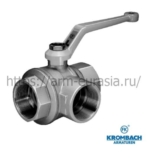 Шаровой кран трёхходовой FK 1080 | Krombach Armaturen
